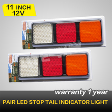 PAIR LED STOP TAIL LIGHTS,114 LEDS ,TRUCK REAR LIGHTS BOAT CARAVAN 12V/24V(China (Mainland))