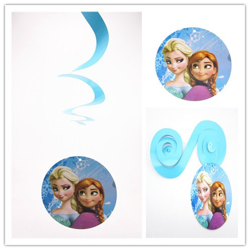 Event party supplies Elsa Anna snowman party decorations Cartoon princess birthday party accessories hangings wall(China (Mainland))