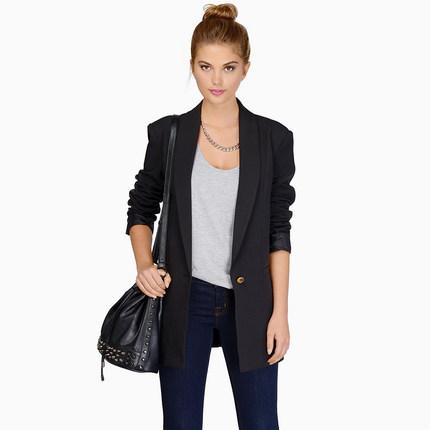 Осень весна длинные пиджак женщин свободного покроя одной кнопки с длинным рукавом конфеты цвет уличная пиджаки и куртки тонкий пальто QL1159