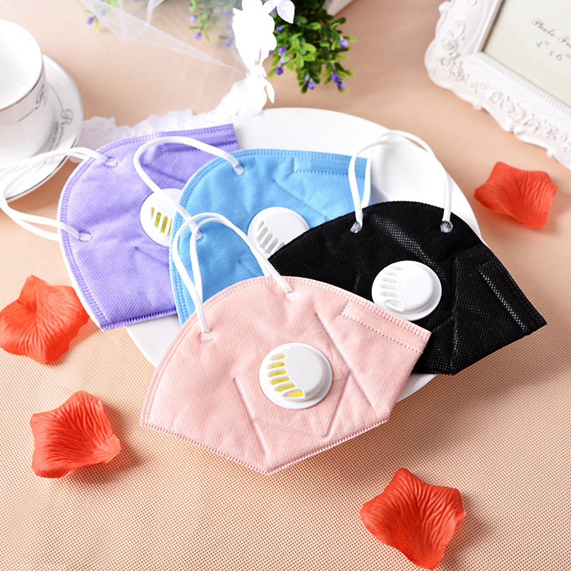 10PCS N95 vertical folding nonwoven valved dust mask PM2.5 disposable respirator mask with valve(China (Mainland))