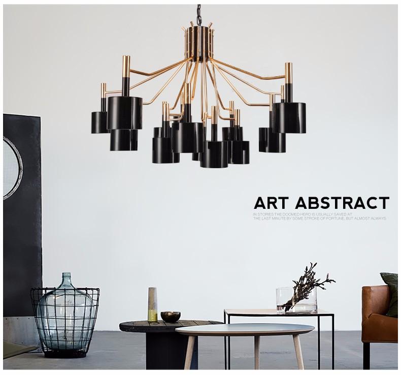 Купить Современный минималистский персонализированные nordic творческий LED постмодернистской нео-классического металла быка творчество украшение дизайн люстры