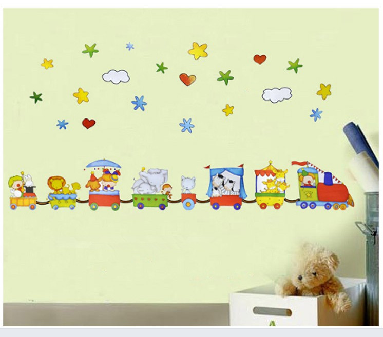 Cute cartoom home decor self adhesive wall stickers for for Adhesive decoration