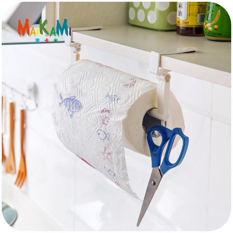 MAIKAMI ABS Kitchen Tissue Holder Hanging Bathroom Toilet Roll Paper Holder Towel Rack Kitchen Cabinet Door Hook Holder(China (Mainland))