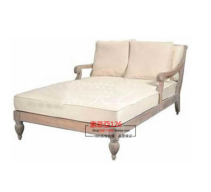 Do the old vintage french american casual double reclining for Chaise longue double a bascule