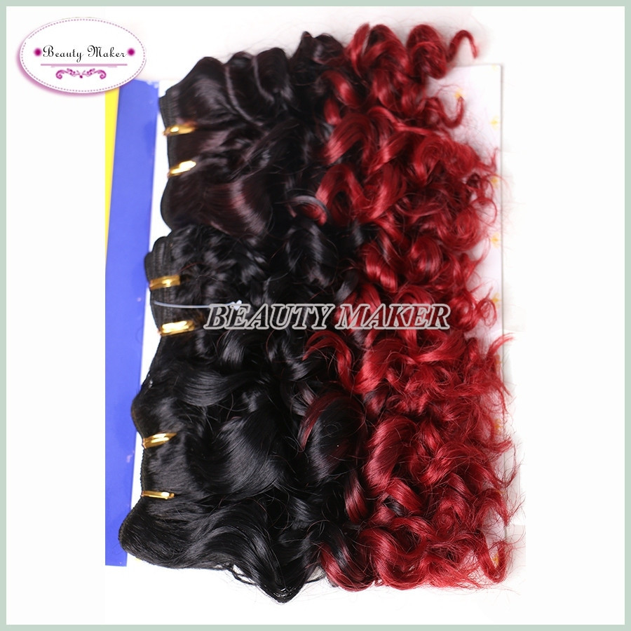 Hair Synthetic Japanese Fiber Ombre Two Tone Synthetic