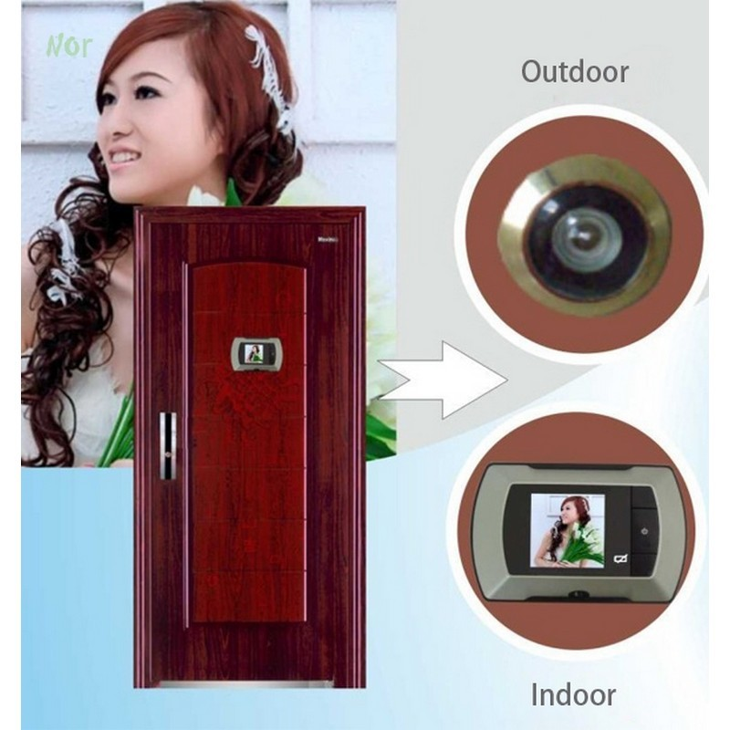 "2.4"" LCD Wide Angle Electronic Door Peephole Peep Hole Visual Monitor Wireless Viewer Camera Video Puertas Camara Doorbell(China (Mainland))"
