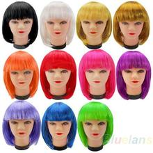 Women New Fashion Short  BOB style Short Party Full Fake False Wig Hair Wigs Color  for Cosplay Synthetic Wholesale 08IM(China (Mainland))