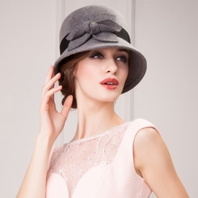 Gorgeous Wool Ladies Wedding /Party/Outdoor Sweet Hat With Bowknot Women's autumn winter new fashion dress hat for women