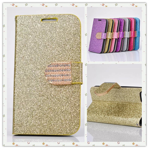 New arrival hot sell fashion luxury cell phone holster for iPhone 5 5s SE 4 4s case with Flash powder and 3D Sparkling diamond(China (Mainland))
