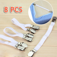 8 pcs Bedding bedspread bed sheet grippers buckle table cloth fitted device bed sheets clip slip-resistant belt elastic set(China (Mainland))