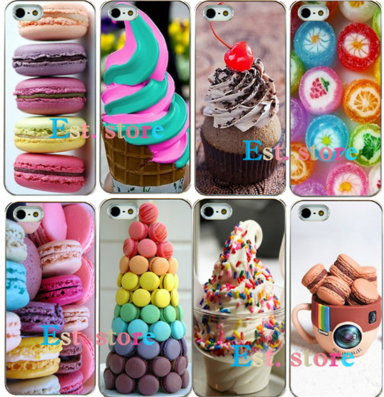 Fruit dessert candy Attractive UV print hard case for apple iphone 4 4S iphone4 emboss back cover good price hot sell design(China (Mainland))