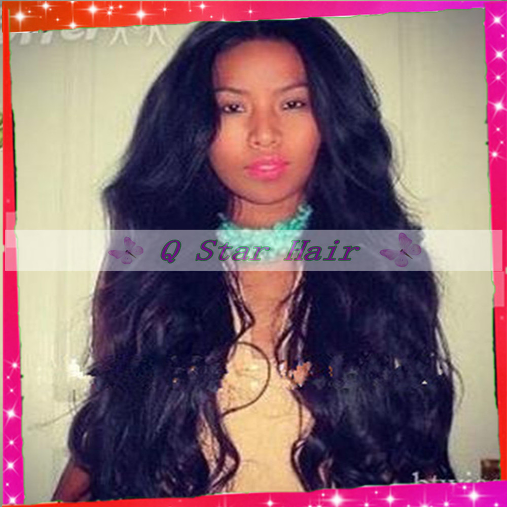 Middle Part 100%virgin brazilian silk top front lace wig/glueless silk top full lace wigs with baby hair around natural hairline<br><br>Aliexpress