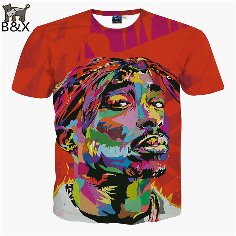 2015 New Men Tshirt 3D Harajuku 2Pac Tupac Biggie American gangster Rap t shirt TUPAC SHAKUR CREWNECK Sweats TopsОдежда и ак�е��уары<br><br><br>Aliexpress