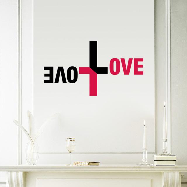 Красочная любовь бога стены винила наклейки на стены иисус христос псалом молитесь библия спальня росписи