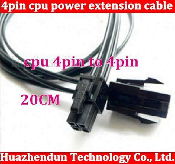 5pcs 4pin to 4pin CPU power extension cable,20CM 4pin extension cord High Quality 4pin power supply cable(China (Mainland))