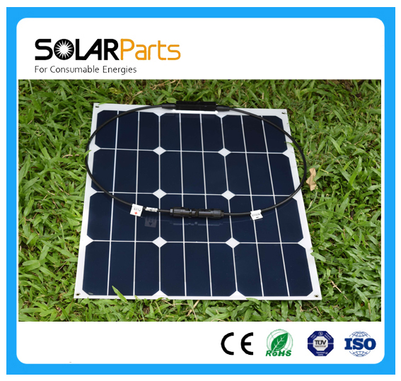Solarparts 1x40W flexible solar panel cell module MC4 connector 12V battery charger sunpower cells for aa usb car 18650 battery(China (Mainland))