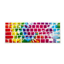15X Cowboy Rainbow Silicone Laptop keyboard Skin Protector Cover Guard for Apple Macbook Pro Air Retina 13 15 17 for Mac 13