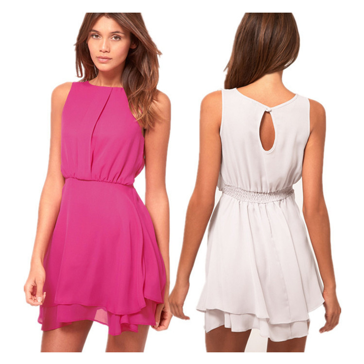 Летнее шифоновое короткое платье