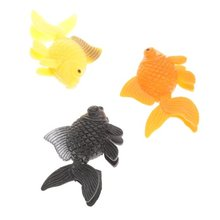 5pcs artificial plastic ornament aquarium fish goldfish.(China (Mainland))