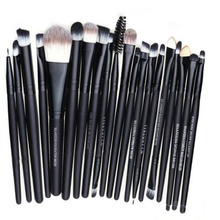 20 PCS Professional Makeup Brush Sets Tools Cosmetic Brush Powder Foundation Lip Brush Tool Wood+Sterile Nylon Free shipping