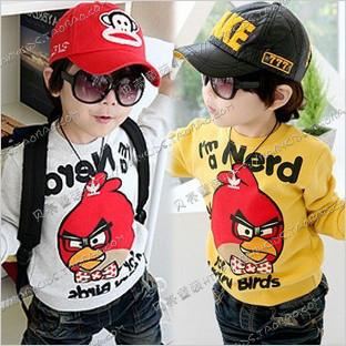 2012 autumn cartoon letter boys clothing girls clothing baby sweatshirt outerwear wt-0461