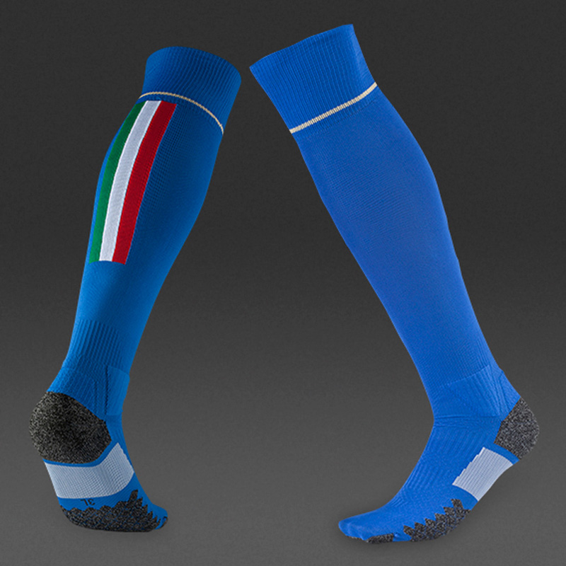 2 Colors Top Quality 2016 Men Soccer Socks Sports Thick knee high long football shin socks for adults men medias de futbol(China (Mainland))