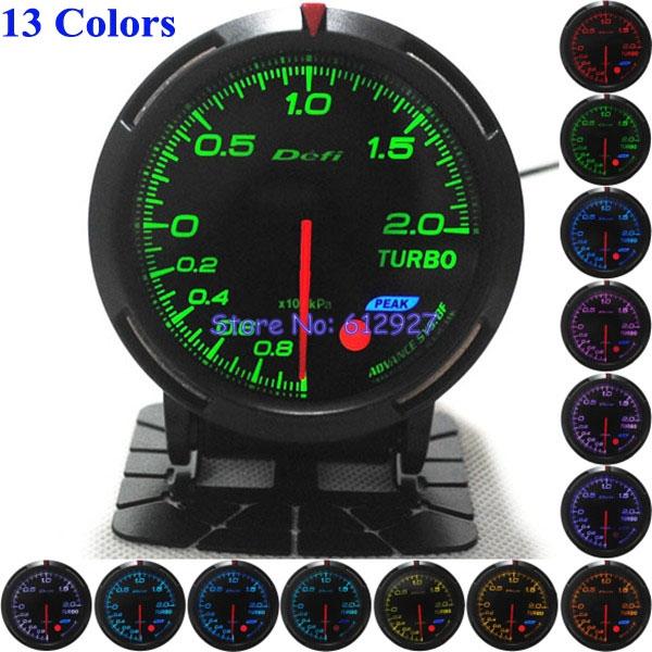 Free Shipping: 60mm 13 Colors Defi BF Turbo Pressure Meter Defi Turbo Boost Meter/Gauge(China (Mainland))