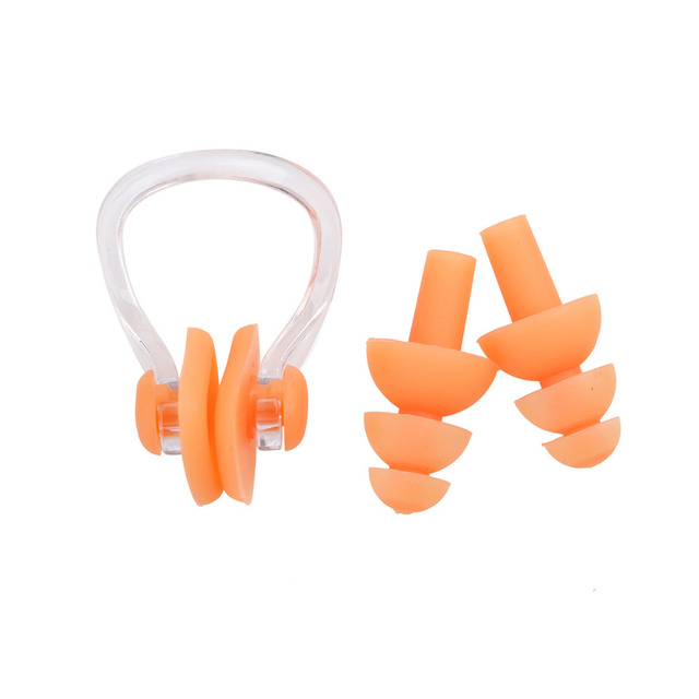 High Quality Silicone Earplug & Nose clip set