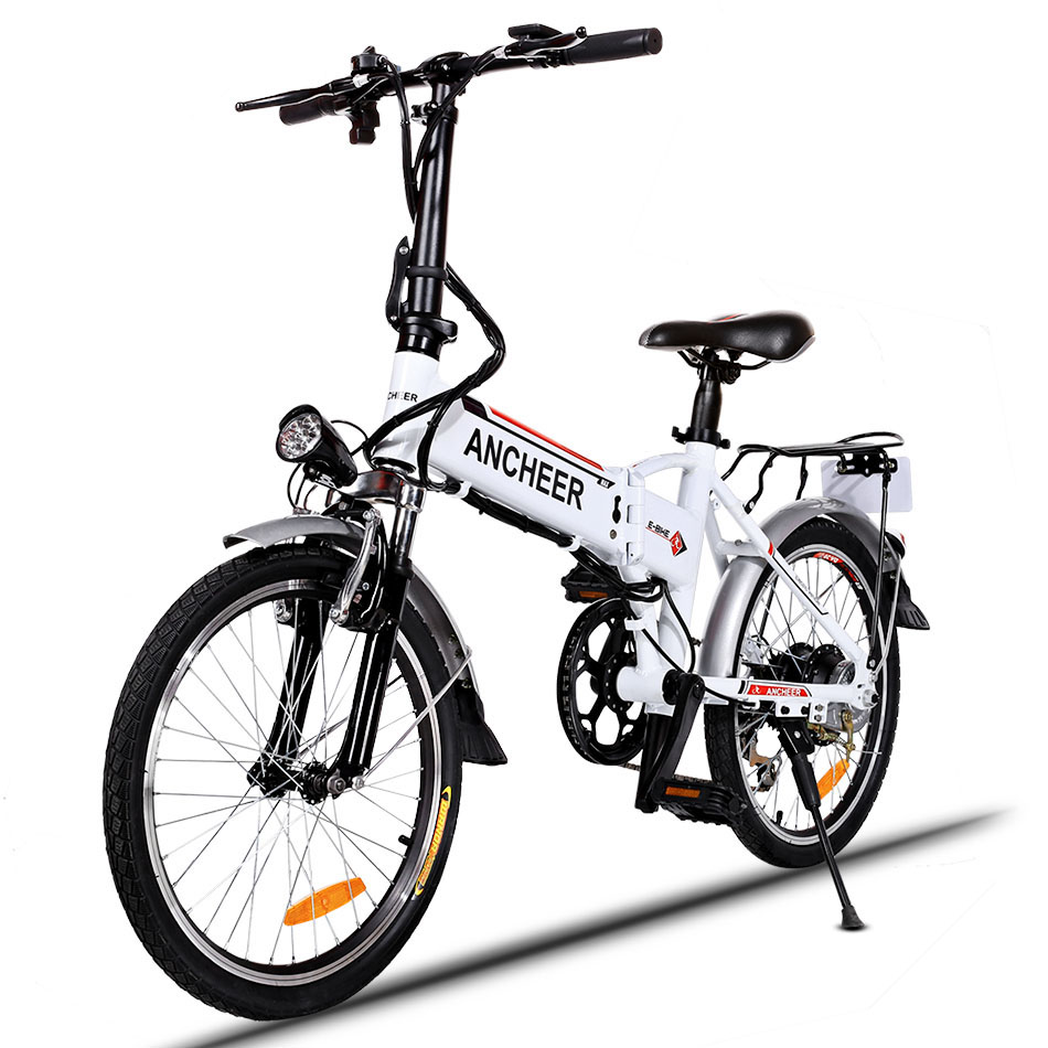 Ancheer 18.7 inch Aluminum Alloy Folding Bike Electric Bicycle Mountain Bike Road Cycling Bicycle White Unisex Hot sale(China (Mainland))