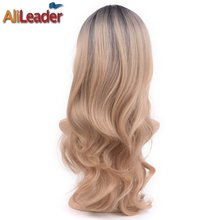 Buy AliLeader Products Ombre Blonde Wig Synthetic Hair Long Body Wave 26 Inch 280G 150% Density for $15.70 in AliExpress store