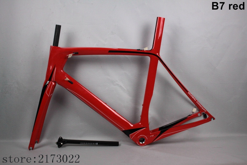 Preferential price carbon frame B7 red road bike frame carbon road frame Glossy UD free shipping and two years warranty(China (Mainland))
