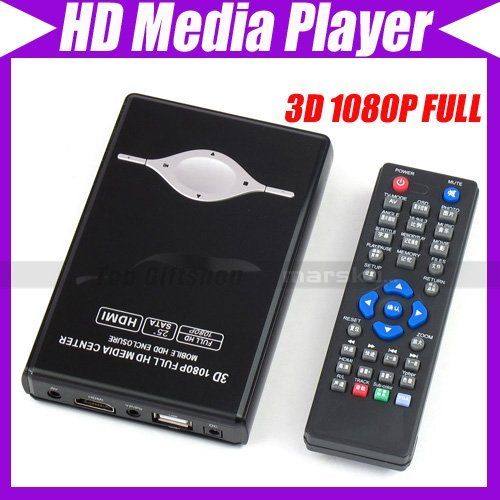 3D 1080P FULL HD 2.5 inch SATA Portable HDMI Media Player #1799