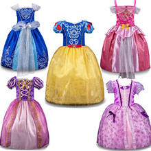 Hot Summer Baby Girl Clothing baby Girls dresses Princess Vestidos Cinderella Cosplay Costume 5 style Baby Clothing For Girls(China (Mainland))