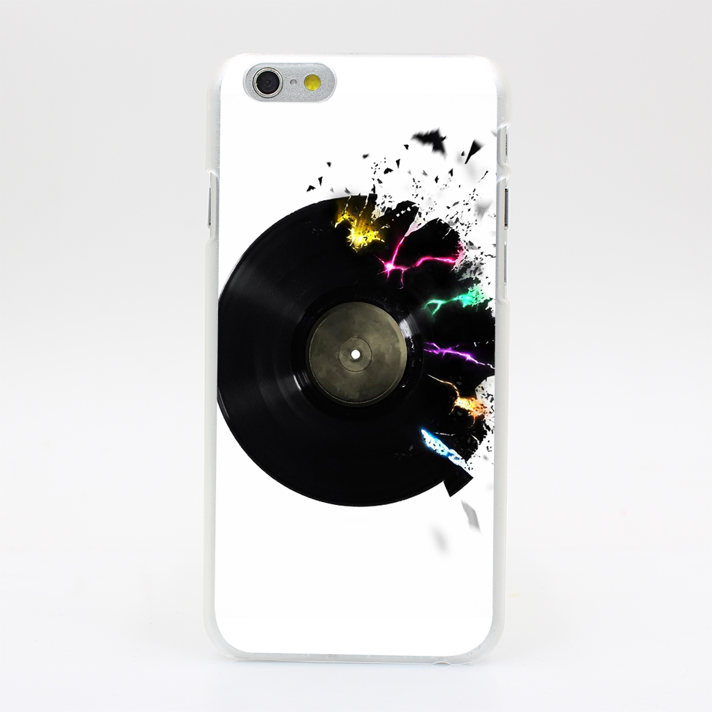 2067U Cd Neon Breaking Music Hard Case Cover for iPhone 4 4s 5 5s SE 5C 6 6s Plus Skin Back(China (Mainland))