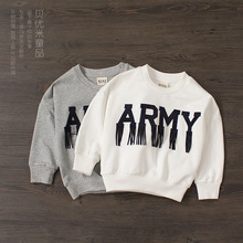 Children hoodies New arrival Children fashion tassels t shirt Boy and girls letters printed tees spring girl casual sweatshirt(China (Mainland))