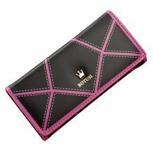 2016 New Fashion Dollar Price Women Long Wallet Crown Leather Clutch Purse Handbag Wallet Lady Long Purse female Free Shipping