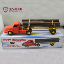 Diecast metal scale model cars 1:43 ATLAS Dinky Supertoys 36A Tracteur Willeme Avec Remorque model cars Toy Vehicles(China (Mainland))