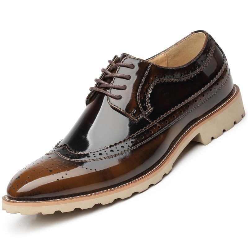 New Men Brogue Shoes Men Business Shoes Casual Mens Flats Leather Shoes Lace Up<br><br>Aliexpress
