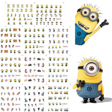 11 Sheets 11 styles BLE1852-1862  Nail Art Water Transfer Sticker Decals yellow Cartoon Design Stickers Wraps Tips Decoration(China (Mainland))