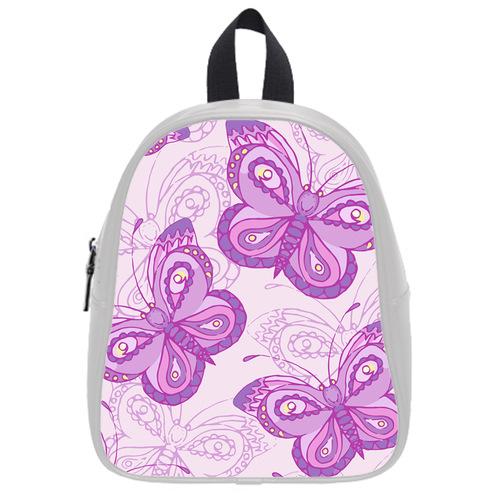 Vogue School Backpacks Customized Seamless Pattern With Flow Mellowed Butterflies Kid's School Bag(China (Mainland))