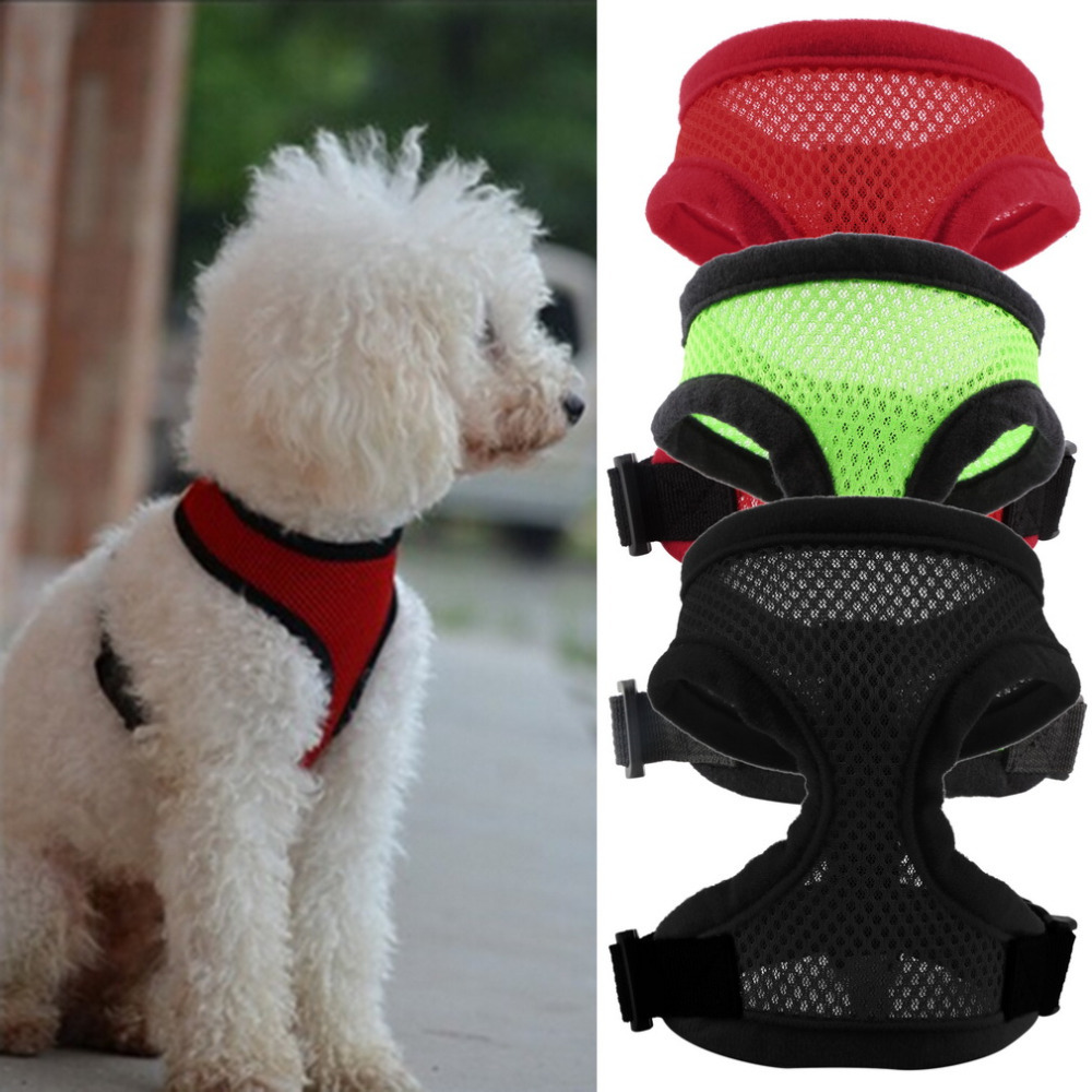 Гаджет  New Fashion 3 Colors Nylon Pet Mesh dog Harness Strap Vest Collar For Small Medium-sized Dog leads Puppy Comfort Harness None Дом и Сад