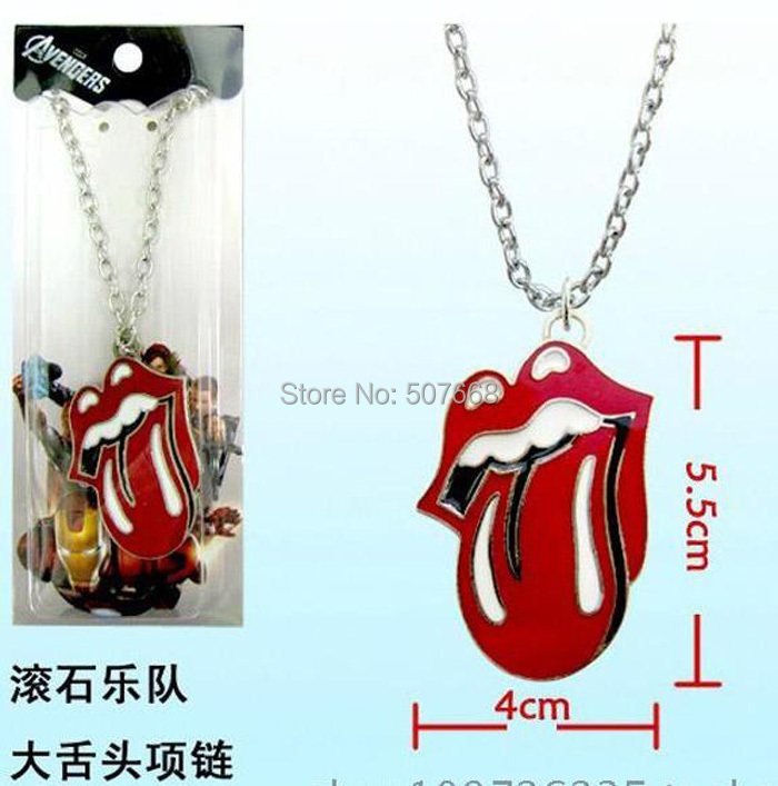 Rock Band The Rolling Stones Stainless Steel Pendant Necklace Fashion Necklace for Men Women(China (Mainland))