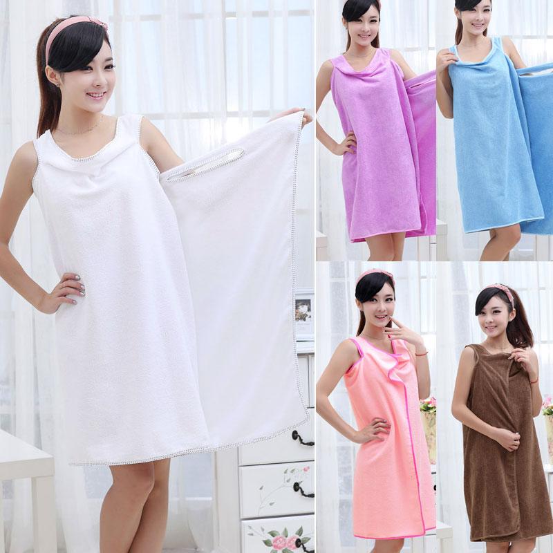 Buy 6x womens shower towel body wrap bath robe bathrobe for Bathroom dress