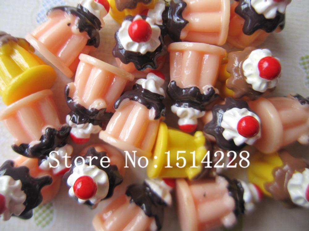 Free shipping! Resin pudding cake . Resin Flatback Cabochon for phone decoration,DIY 12mm(China (Mainland))