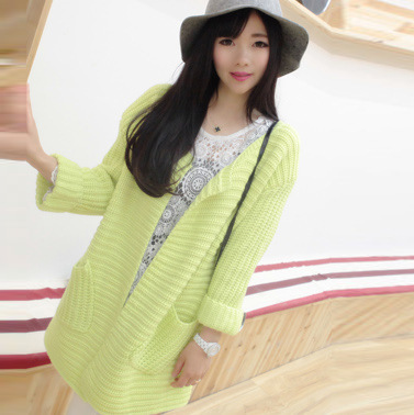 2015 spring new Korean version of the long cardigan sweater knit cardigan Slim loose sweater female coat wholesaleОдежда и ак�е��уары<br><br><br>Aliexpress