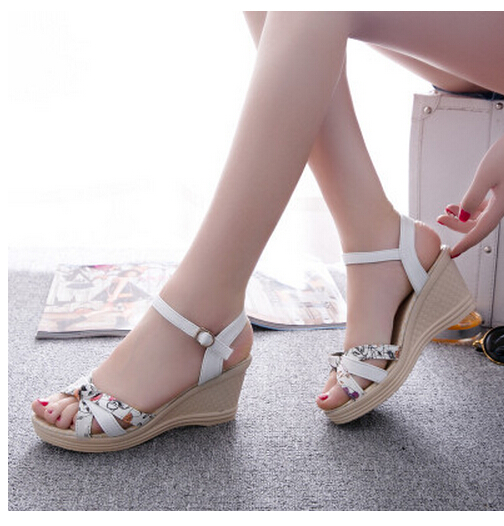 High Quality ! Women Sandals Summer wedges sandals female shoes women platform shoes lace belt open toe high-heeled shoes(China (Mainland))
