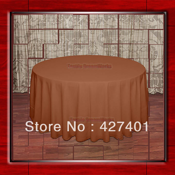 """Hot Sale 132"""" R Burnt Orange Round Table Cloth Polyester Plain Table Cover for Wedding Events &Party Decoration(China (Mainland))"""