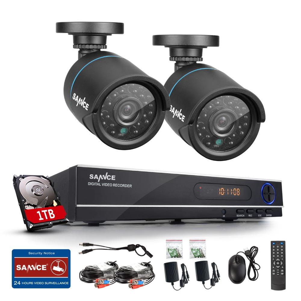 2016 SANNCE Home Security CCTV System HD 1080N 8CH DVR 2X720P 1.0MP AHD High Resolution CCTV Camera Video Surveillance Kit 1TB(China (Mainland))