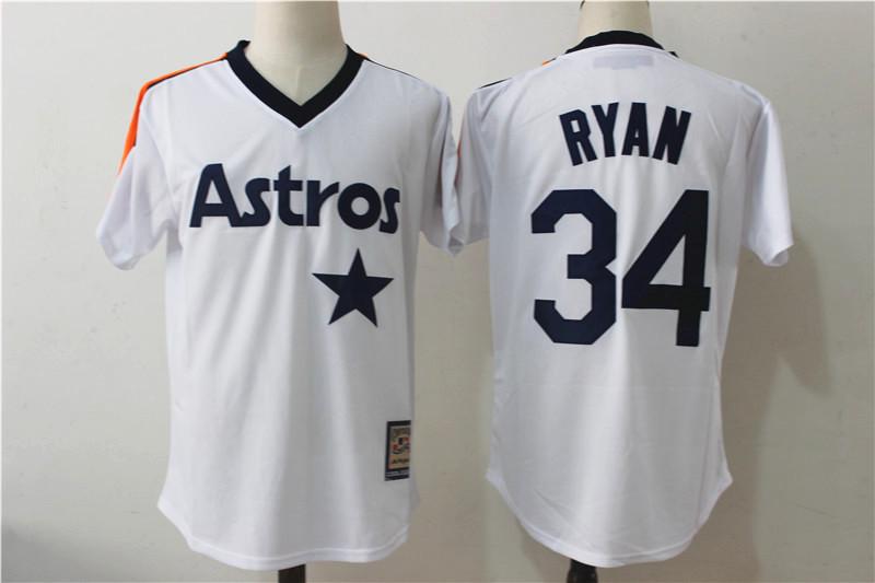 Houston Astro #27 Jose Altuve #4 George Springer baseball jerseys #5 Jeff Bagwell #34 Nolan Ryan Throwback Cool Base Jersey(China (Mainland))