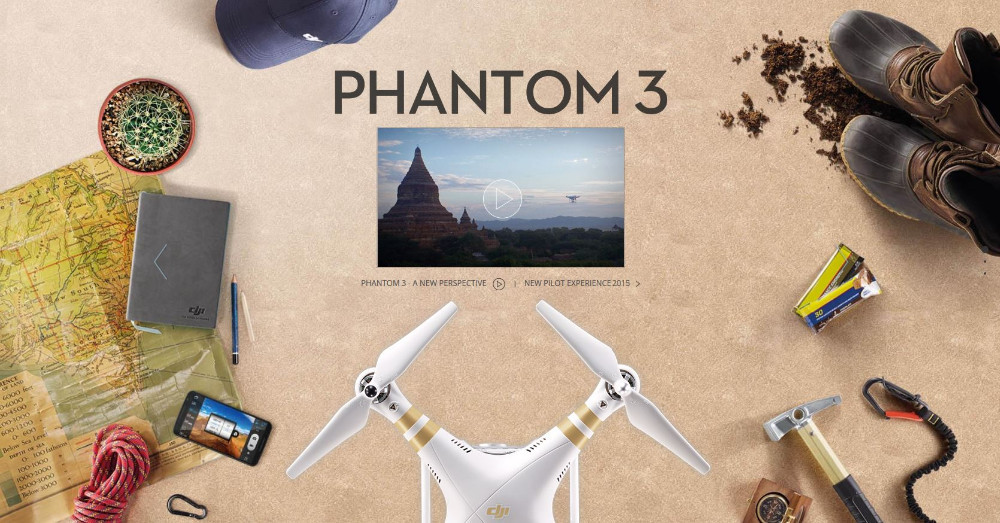 HOT sale Dji Phantom 3 Advanced 1080P Full HD camera 3D Brushless Gimble GPS system live HD video RTF DJI drones